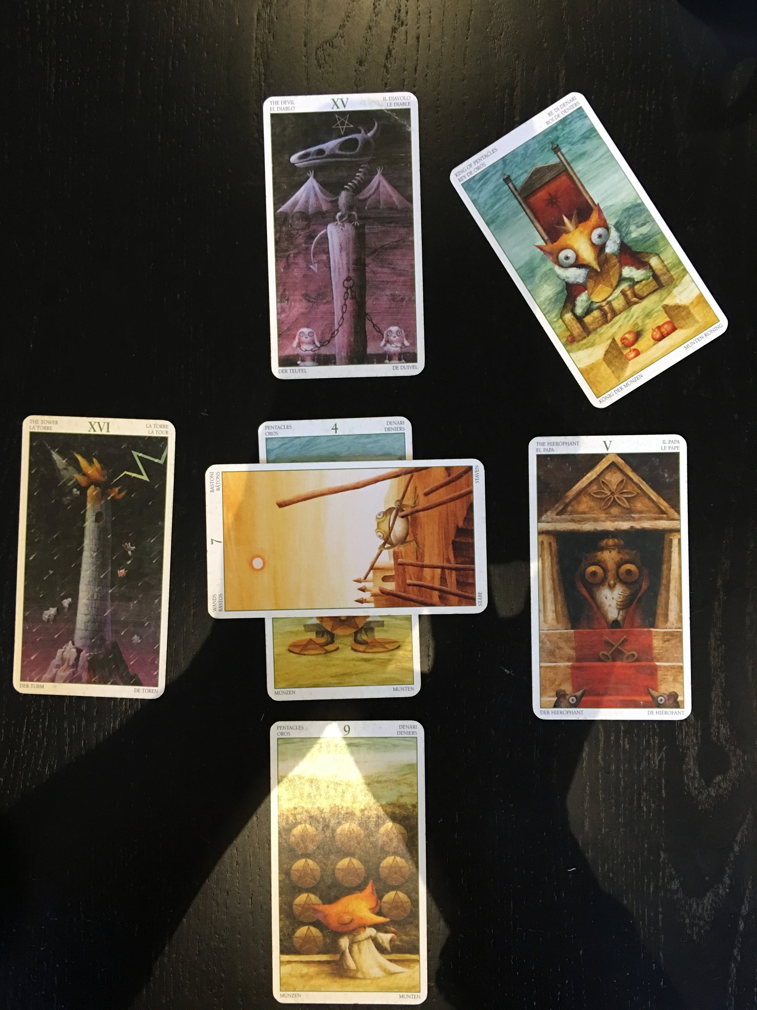My first tarot card reading at Retrograde Coffee - 11/11/17