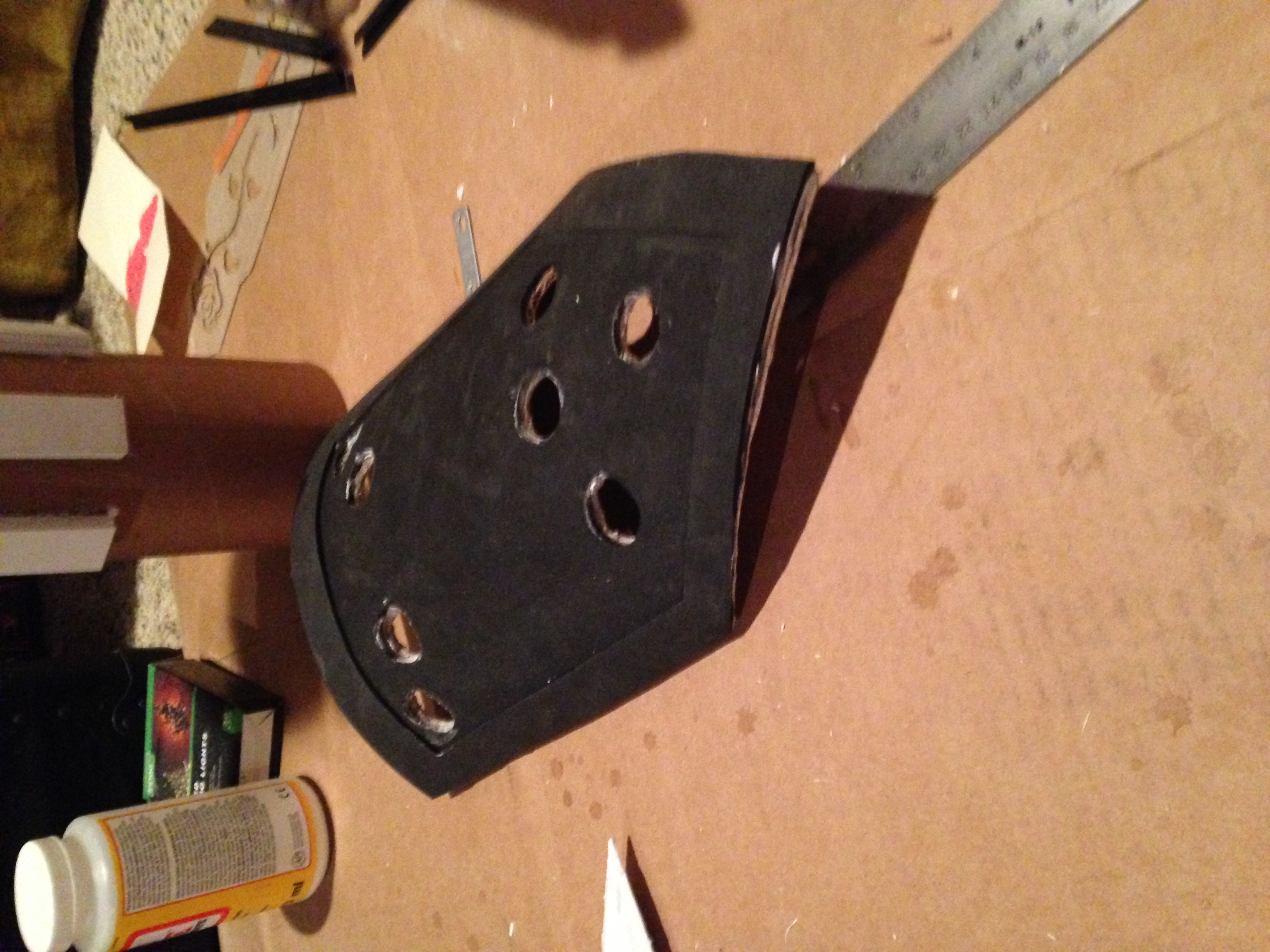 The raised edges around all of the plates were also done with foam.