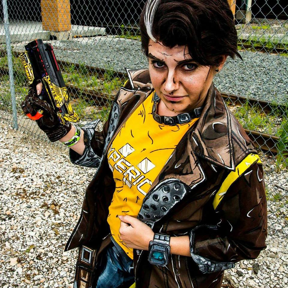 While we may have met as Ace Attorney fans, I truly fell in love with  Drop Dead Meg 's awesome cell-shading skills on her Borderlands cosplay!  Photo: Handsome Jack (Borderlands 2)