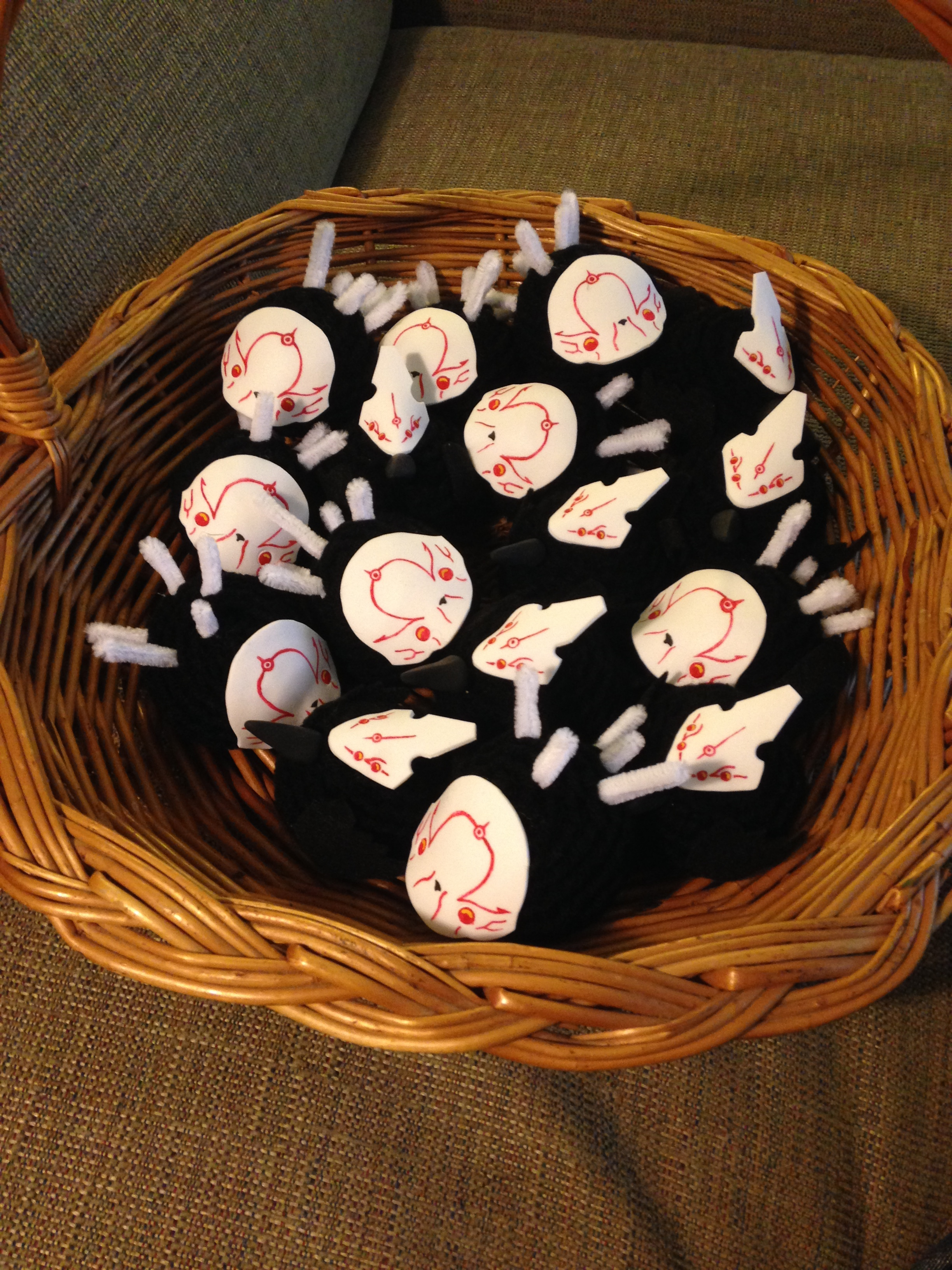 In anticipation of the panel, I made a basket full of Grimm. RAWR!