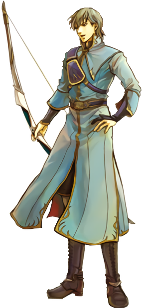 """If you can't tell just by his art, he fits into the """"Asshole Archer"""" archetype that we see a lot in FE games."""