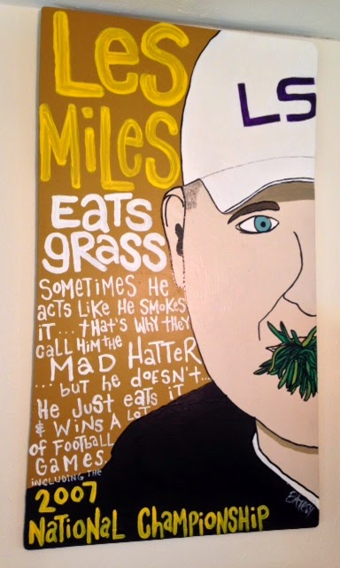 LES MILES /  paint on wood /  SOLD