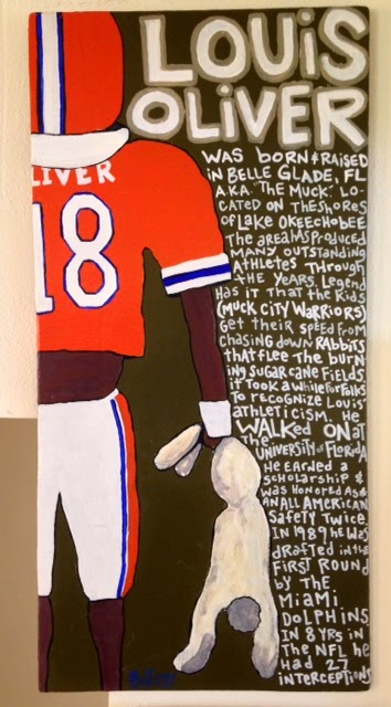 LOUIS OLIVER /  paint on wood /  SOLD