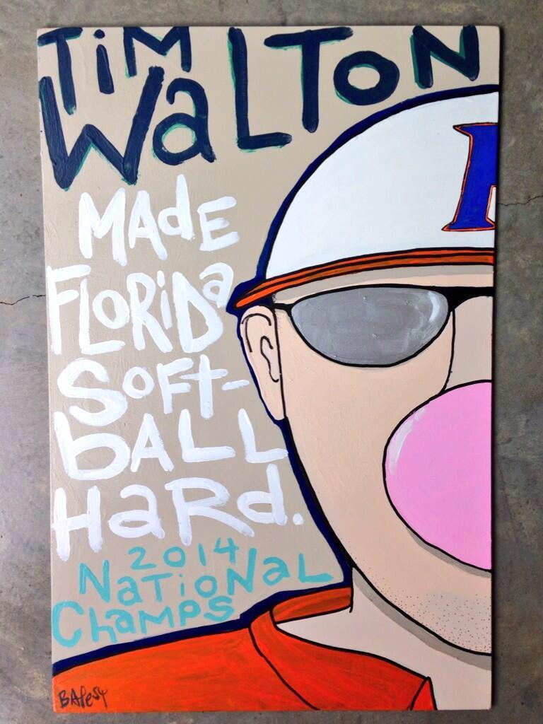 TIM WALTON / paint on wood / SOLD