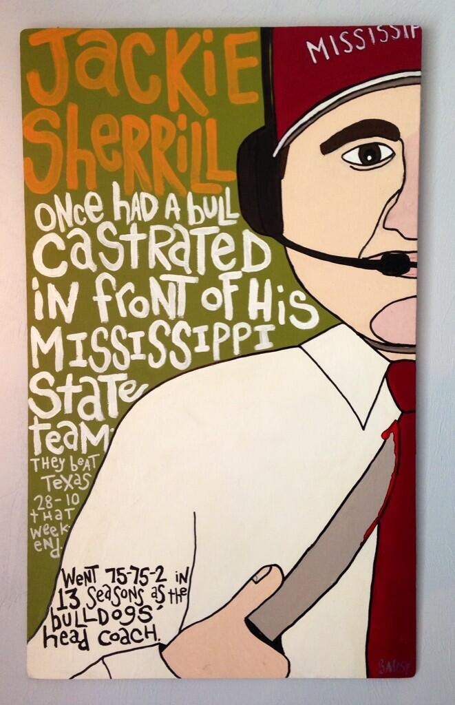 JACKIE SHERRILL / paint wood / 300 / In The Collection of Scott Strickland