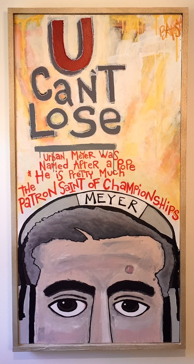 """Urban Can't Lose / paint on wood / 34""""x50"""" / 850 SOLD"""