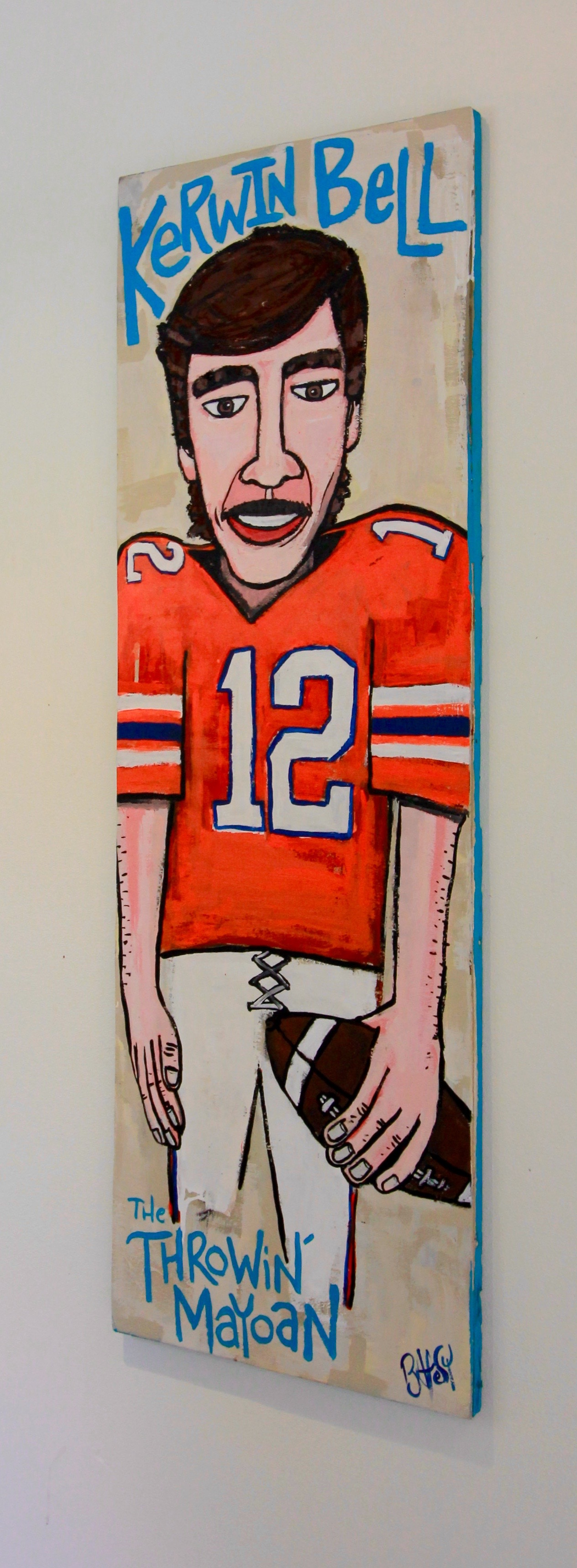 """The Throwin' Mayoan - Kerwin Bell / 16.5""""x48"""" / Commissioned / SOLD"""
