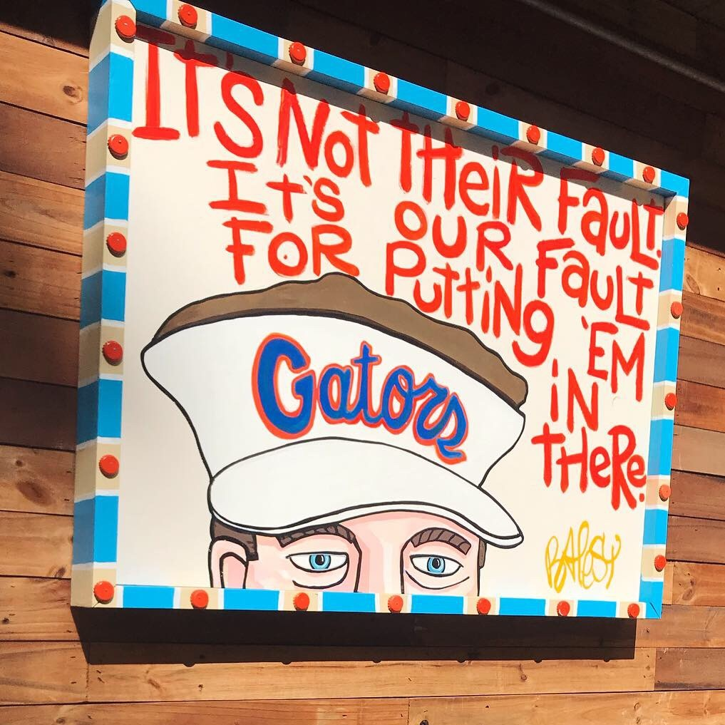 HBC - It's Not Their Fault / 3'x4' paint on wood / 1,500
