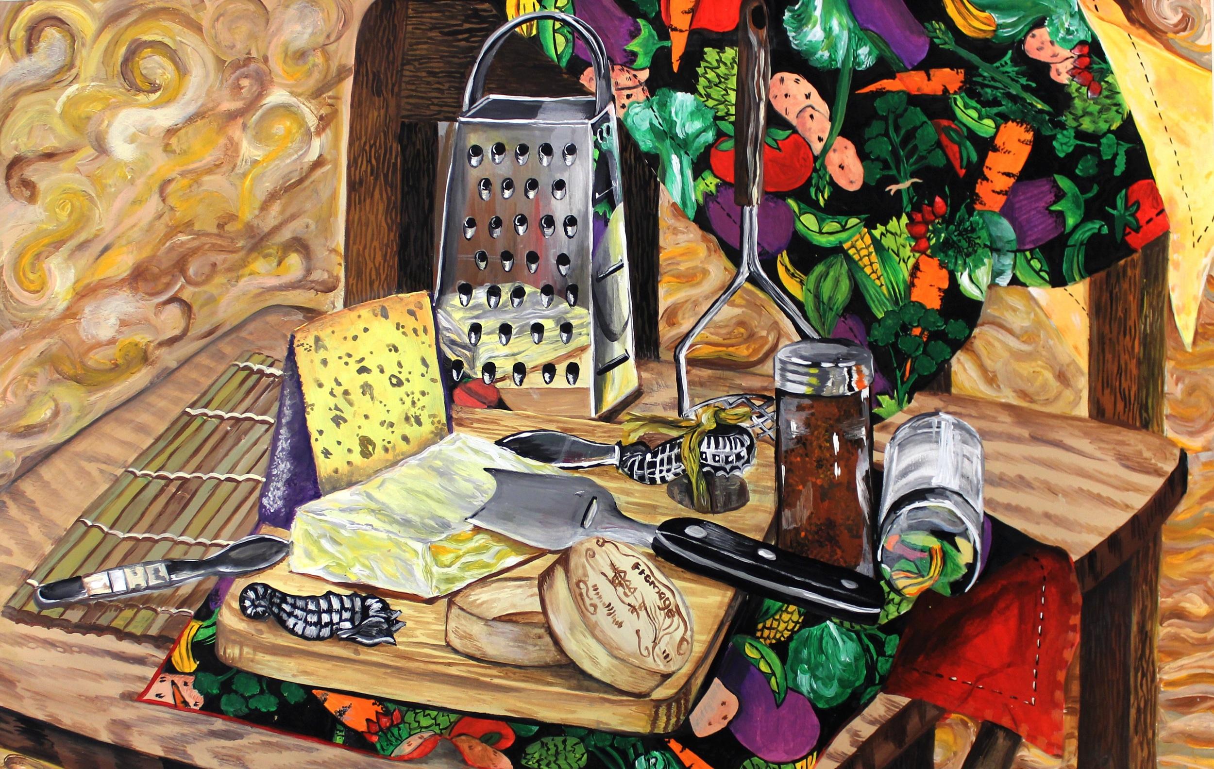 Cheese Still Life.jpg Dasha Bobrova Arrylic Paint 13- x 21-.jpg