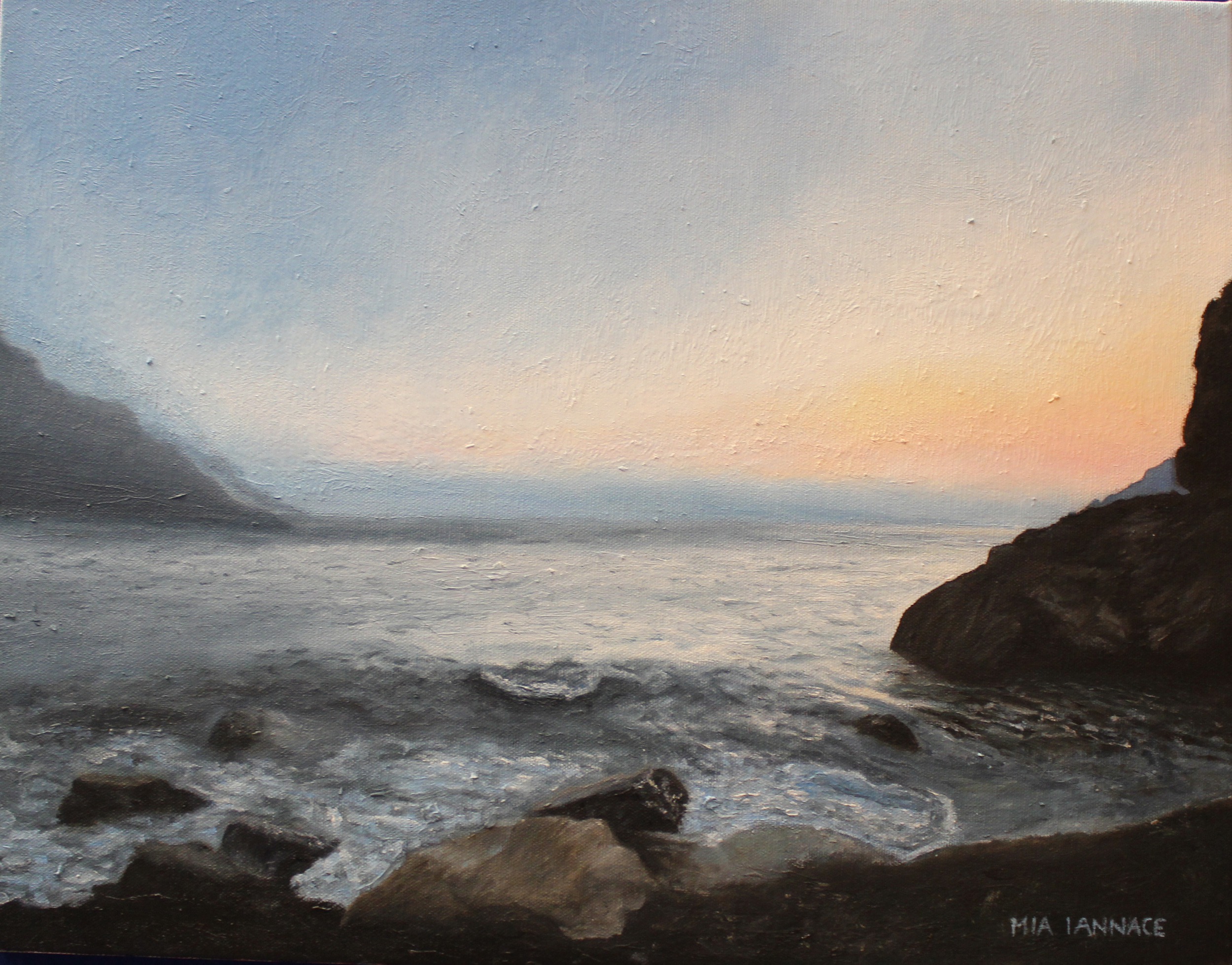 Mia Iannace Vernazza Coast  Oil Paint 14- x 18-.jpg