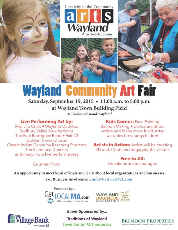 Wayland Community art fair - 2015
