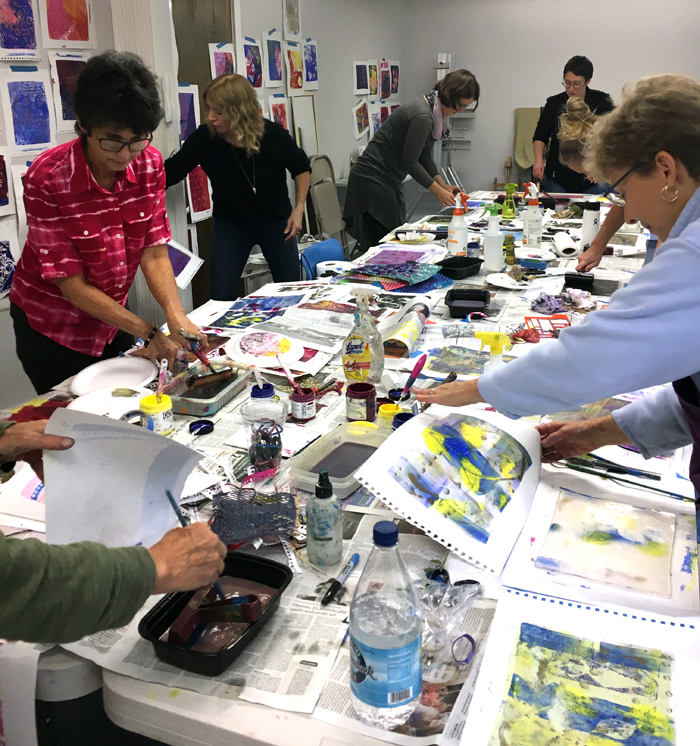 Adria Arch Gelli printing workshop