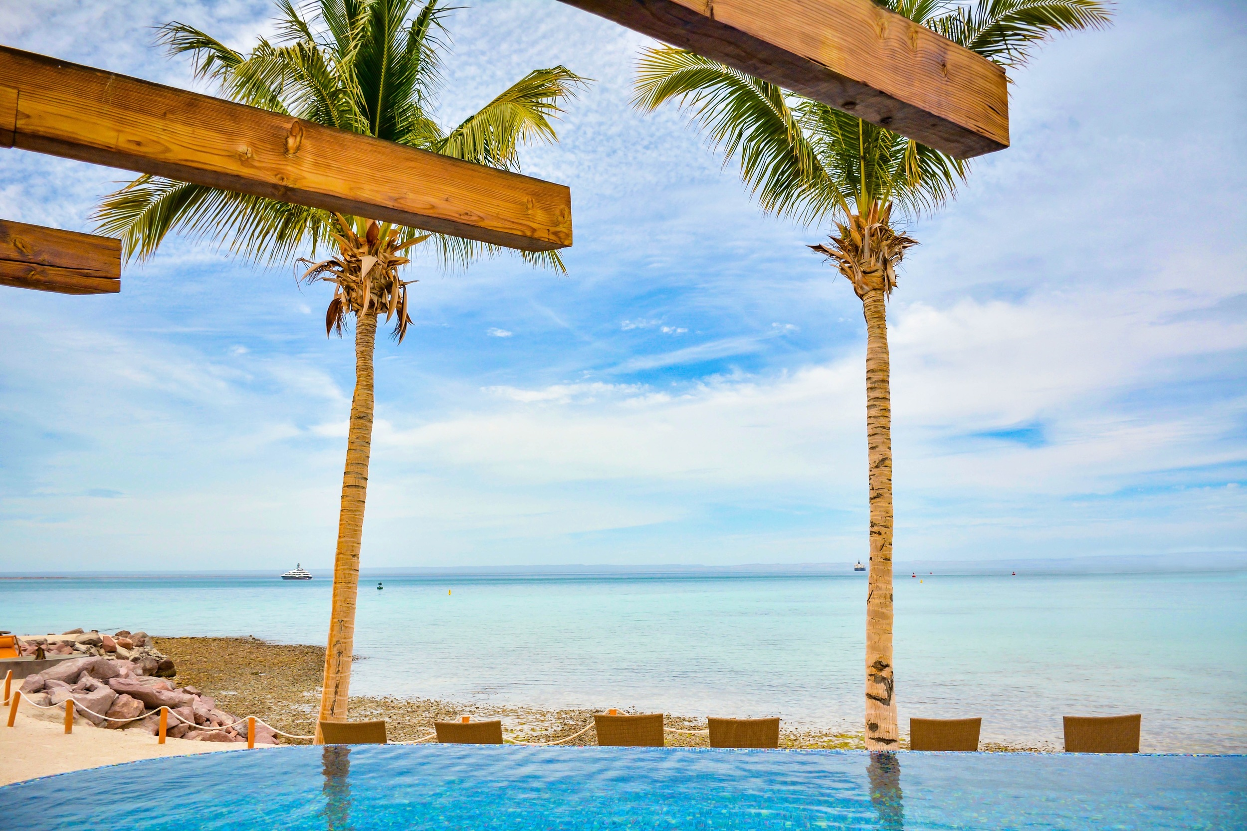 Costa Baja Resort infinity pool. It was hard to leave the bar located behind the pool...