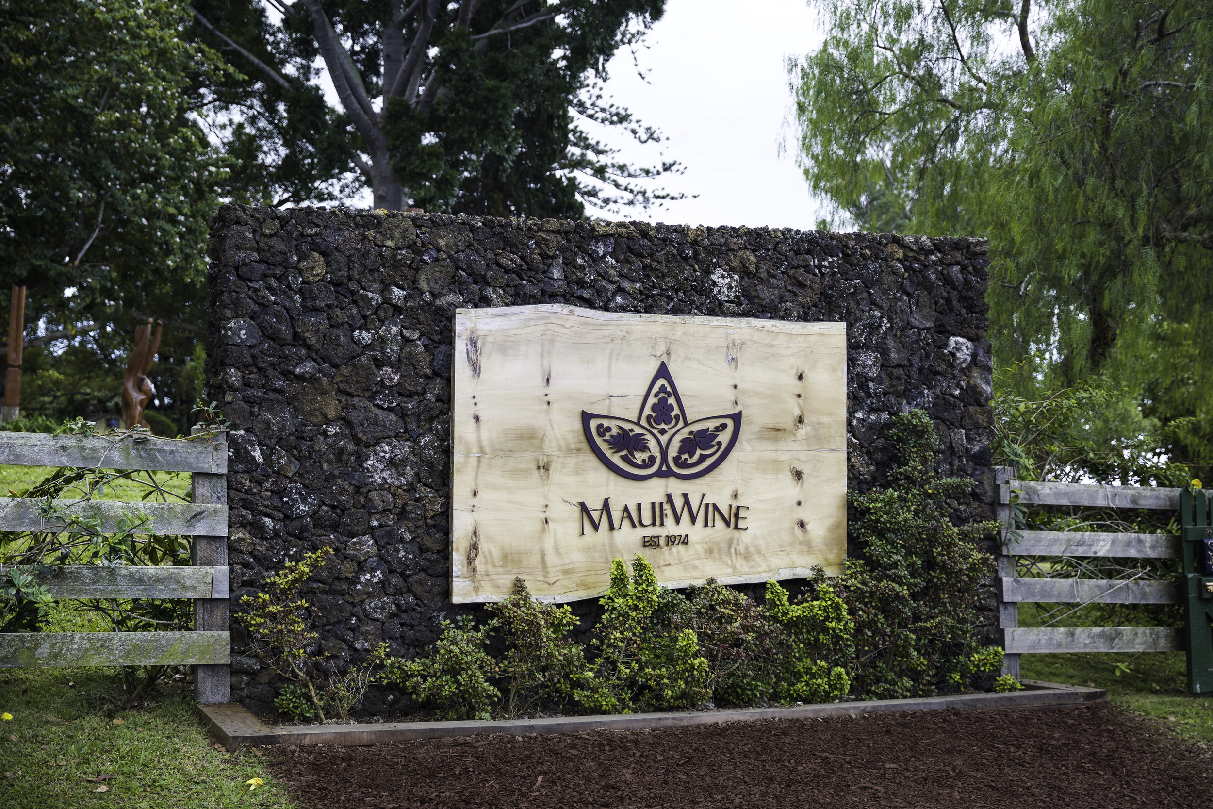 Maui Wine Vineyards entrance