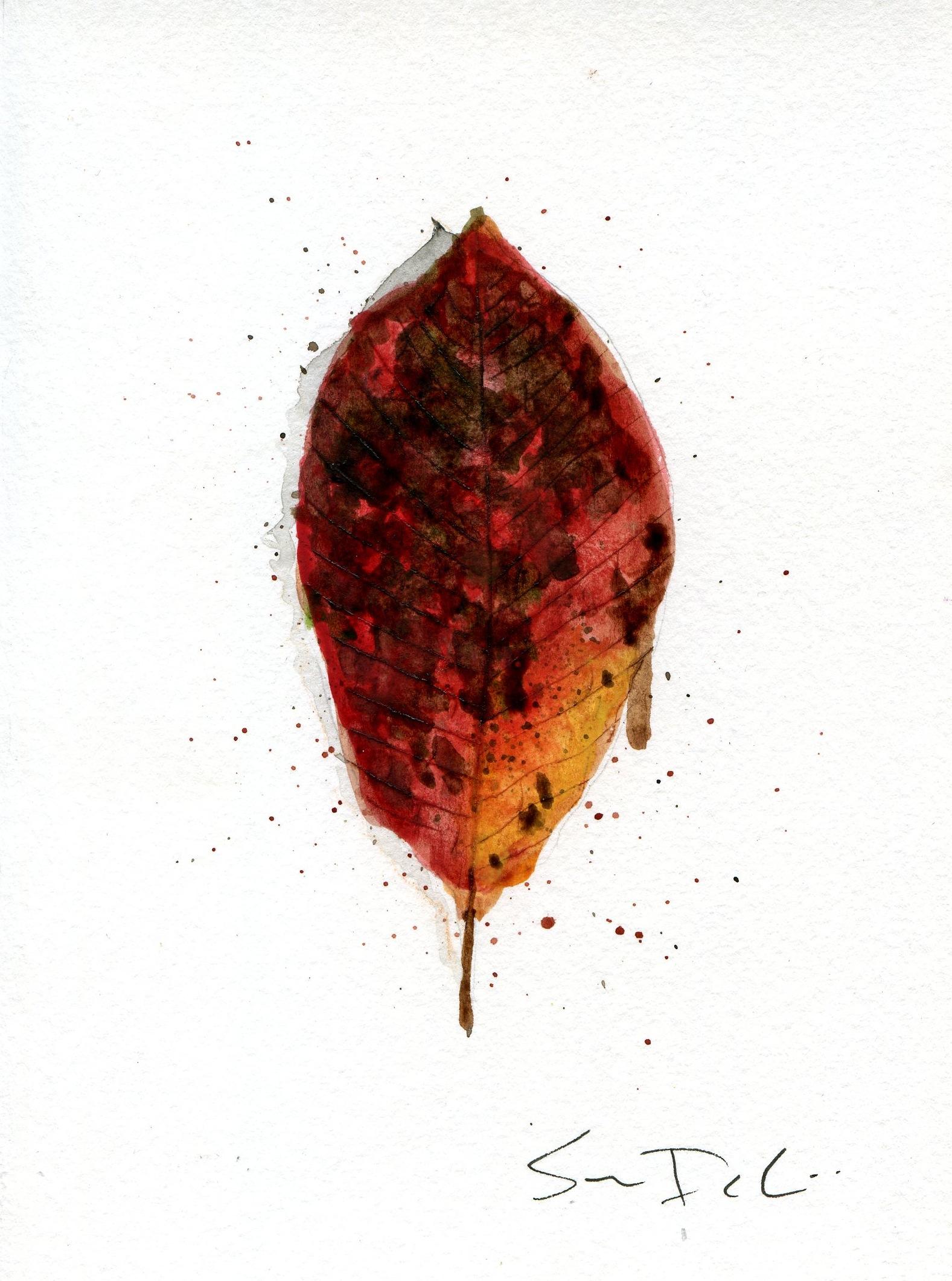 Tupelo Leaf Portrait 014 - SOLD