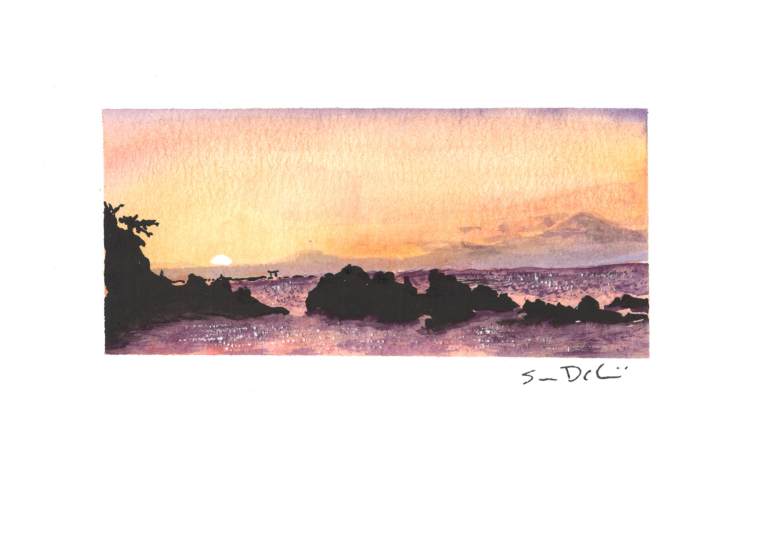 arch at sunset - SOLD