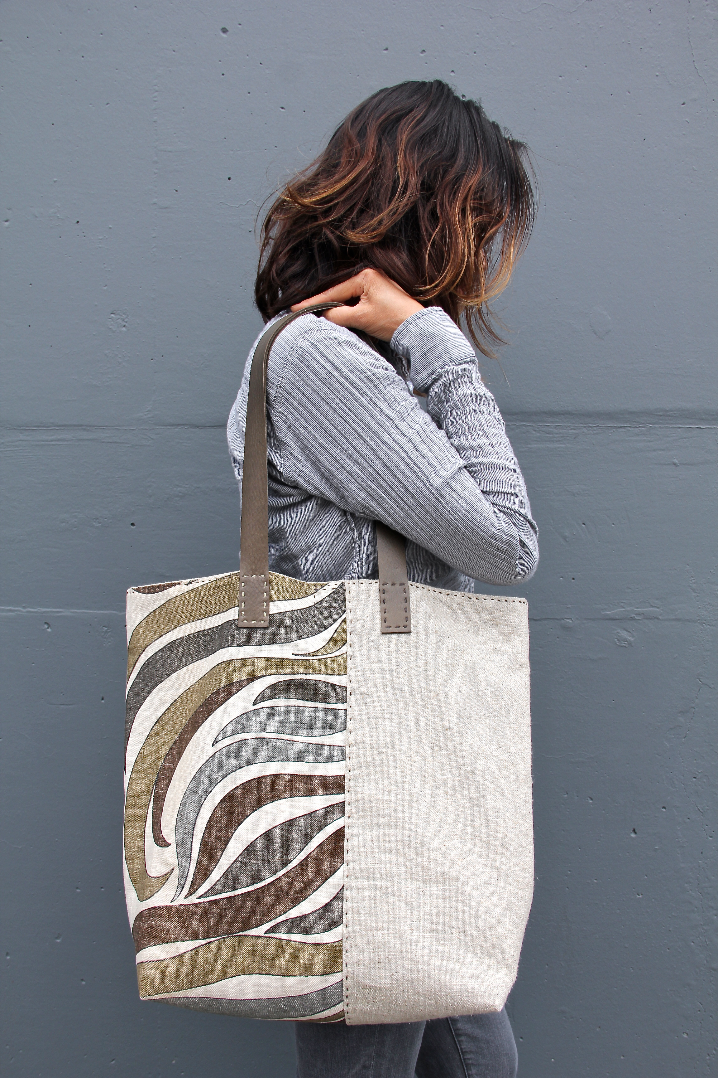 River Flow Tote Bag - Front Body