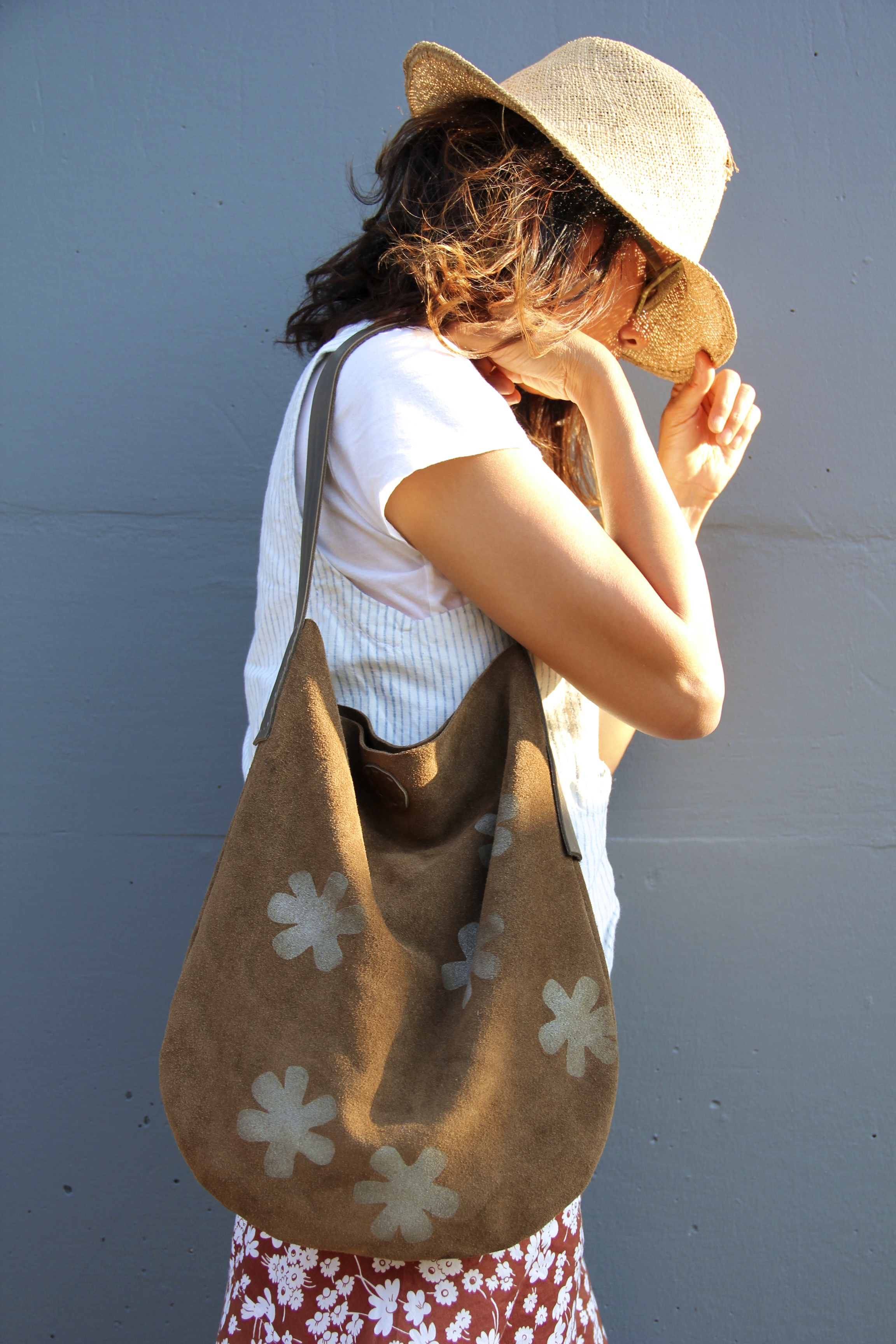 'Wanderer' Handmade Suede Bag