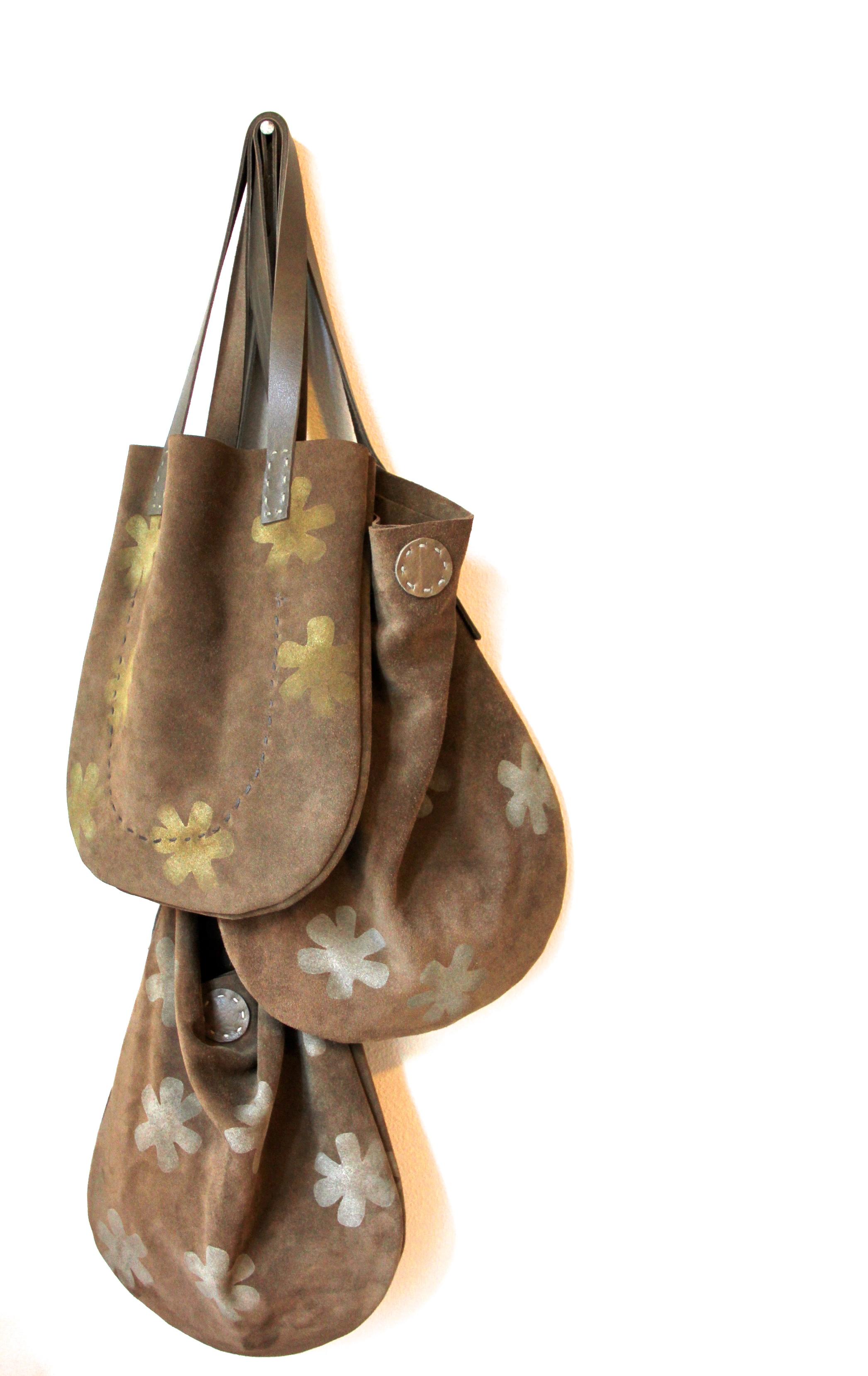 Handmade Suede Bag Trio