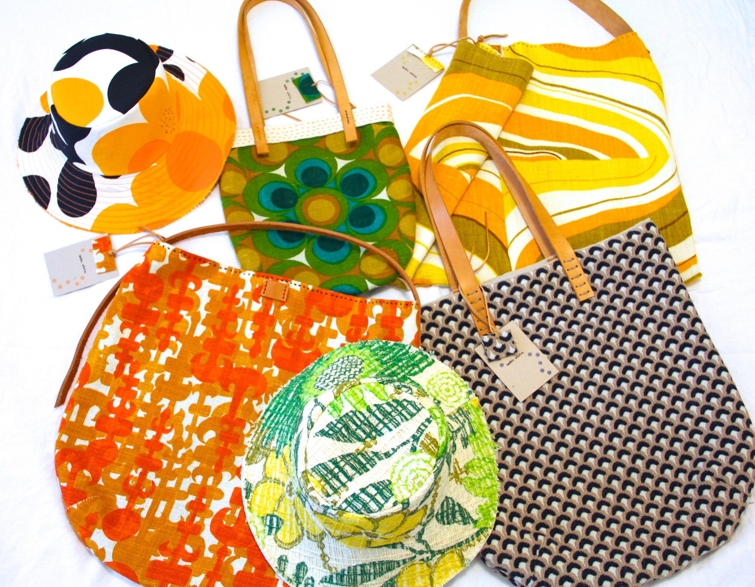 leilei aloha + g roslie's bespoke bags + hats