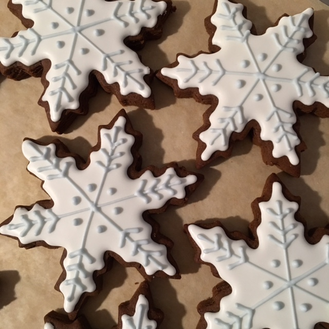 Heidi Rose's Gingerbread Snowflake Cookies