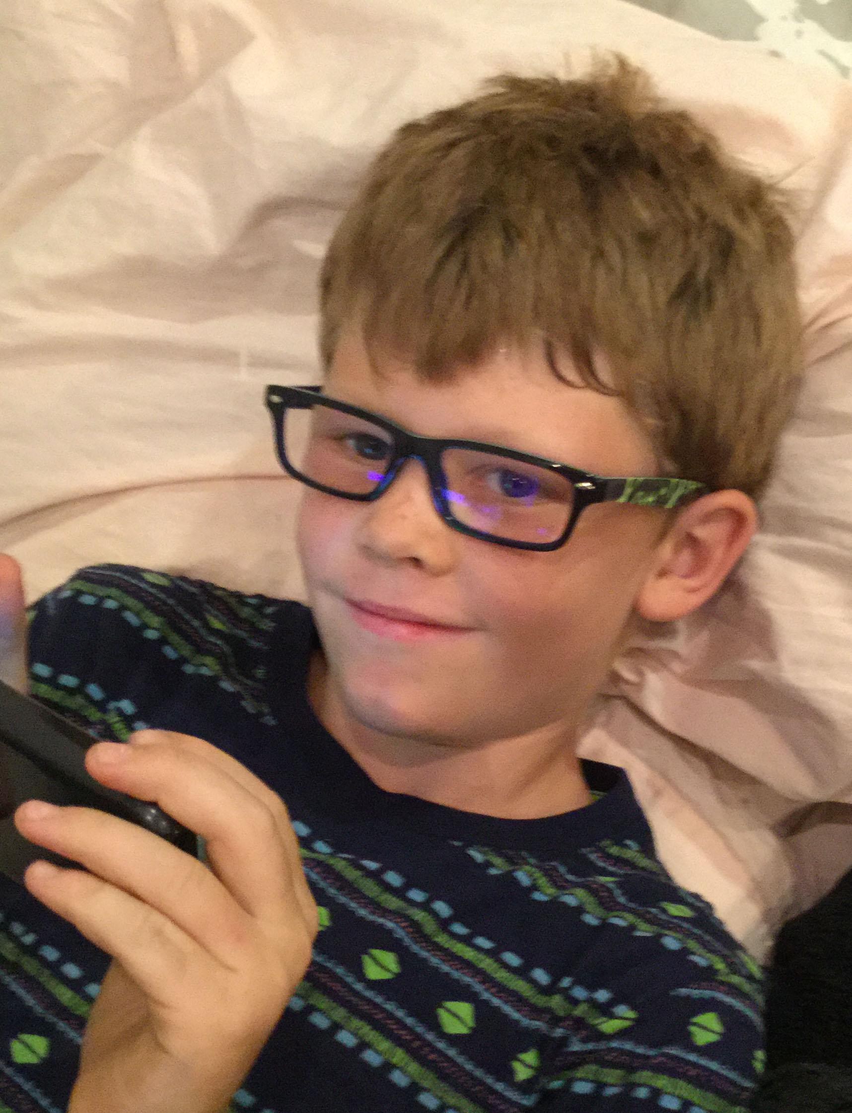 Josh looking content in his new specs