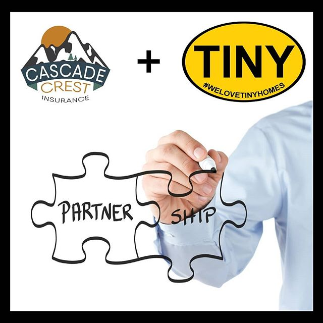 We're excited to announce our new  partnership with @cascadecrestins.  Our goal with this alliance is to provide you with better service and more robust product.  Make sure you check them and show them some social media ♥️. #partnership #insurance #tinyhomeinsurance #tinyhousenation