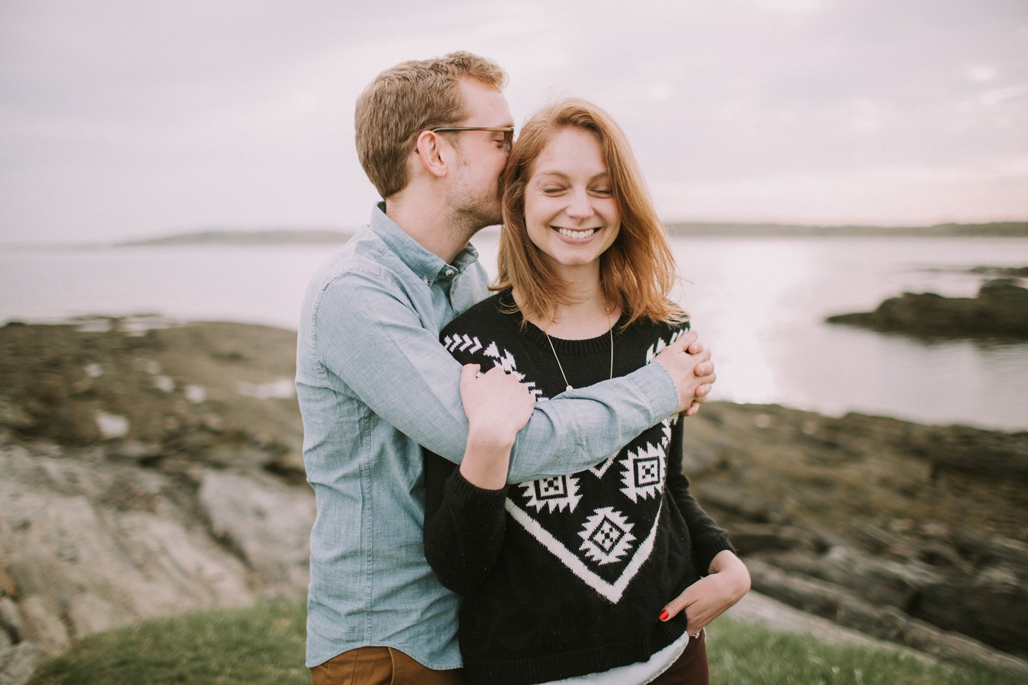 Engagement Photos at Eventide Oyster Bar + Kettle Cove, Maine_0005.jpg