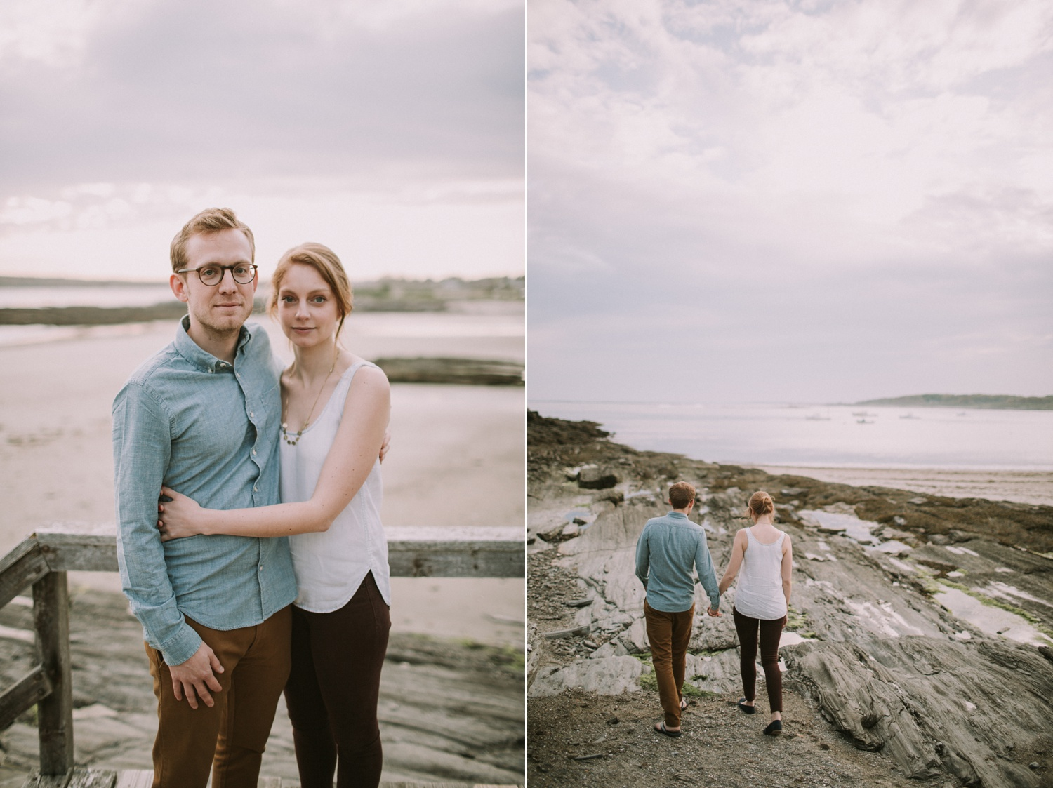 Engagement Photos at Eventide Oyster Bar + Kettle Cove, Maine_0017.jpg