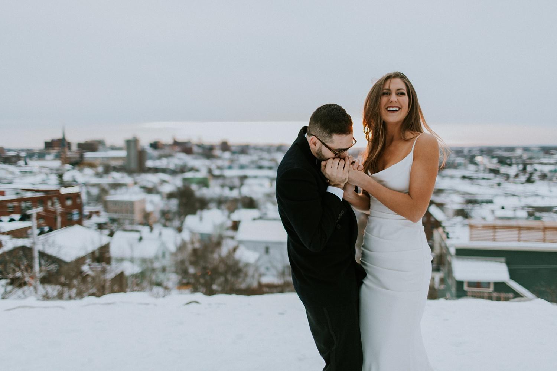 winter wedding in maine