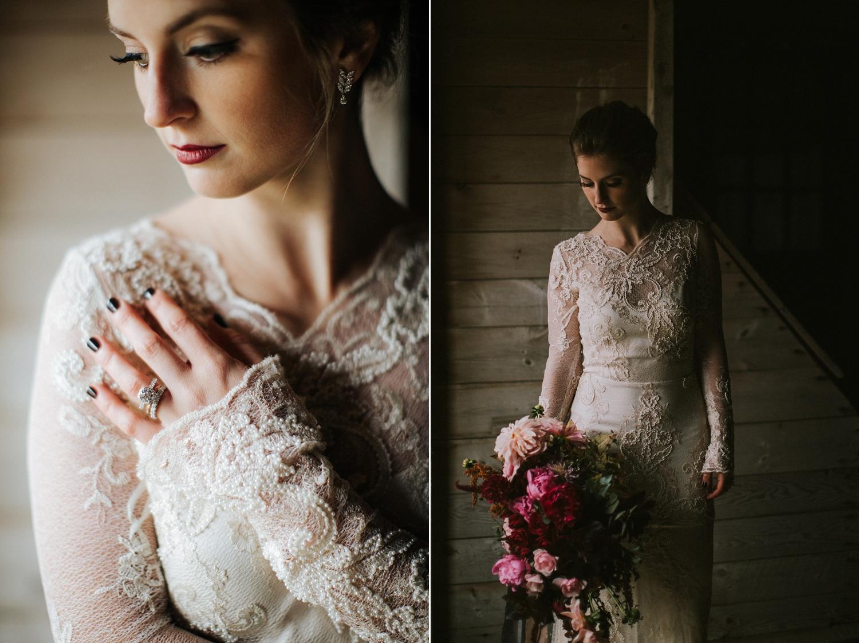 moody maine wedding inspiration photographer