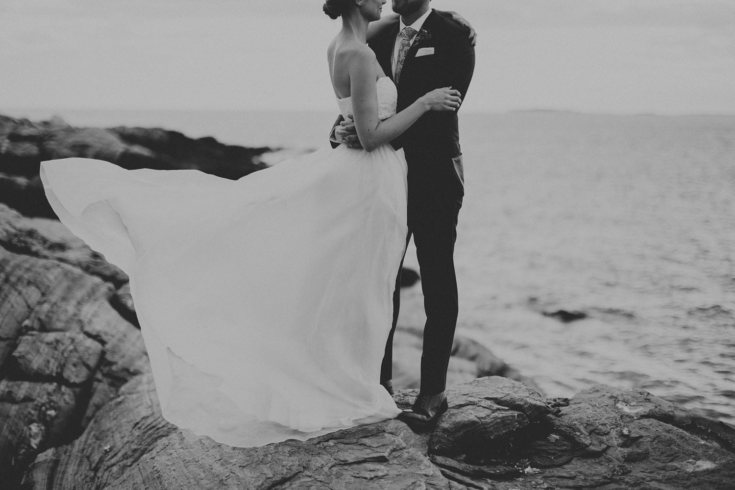 dark and moody maine wedding photographer