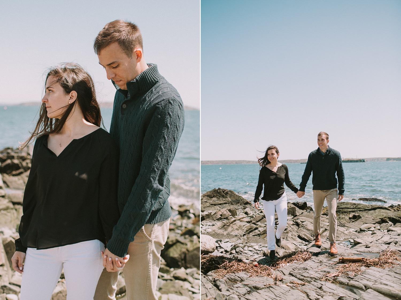 Portland Maine Fine Art Wedding Photographer Engagement Photos