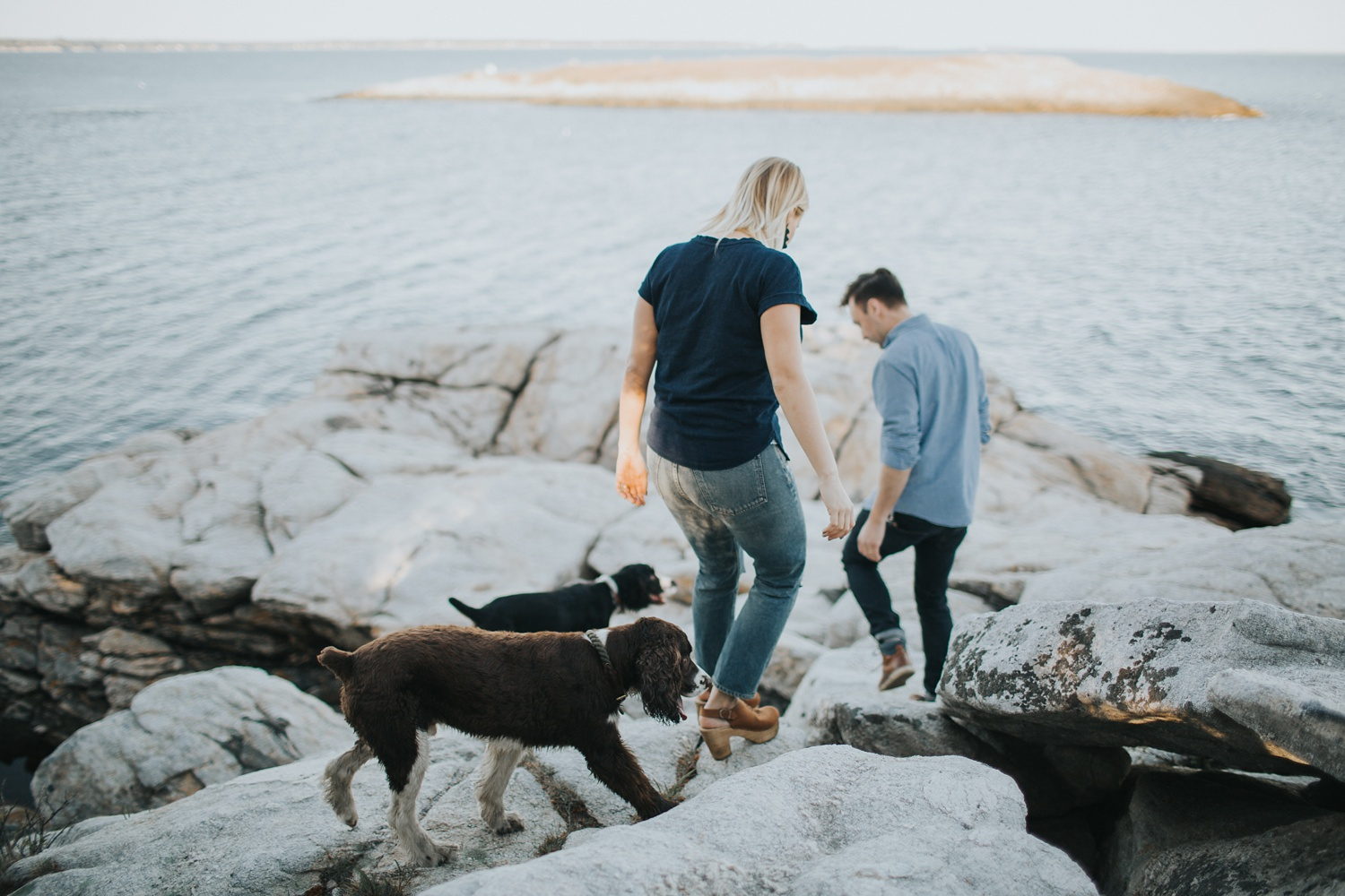 reid state park engagement photography maine