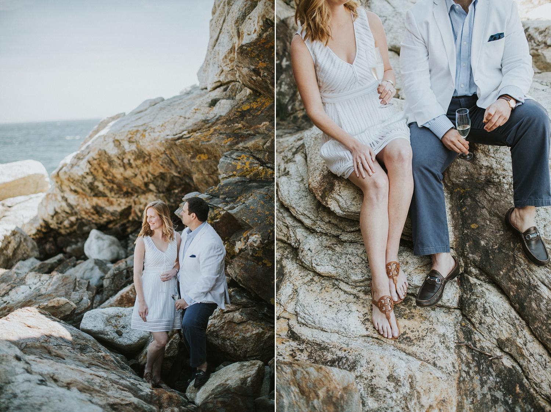 midcoast maine engagement photos