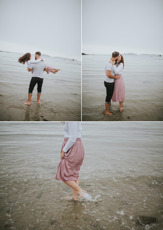 kettle cove maine engagement photos