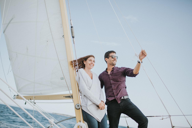 stonington maine engagement photographer sailboat engagement session
