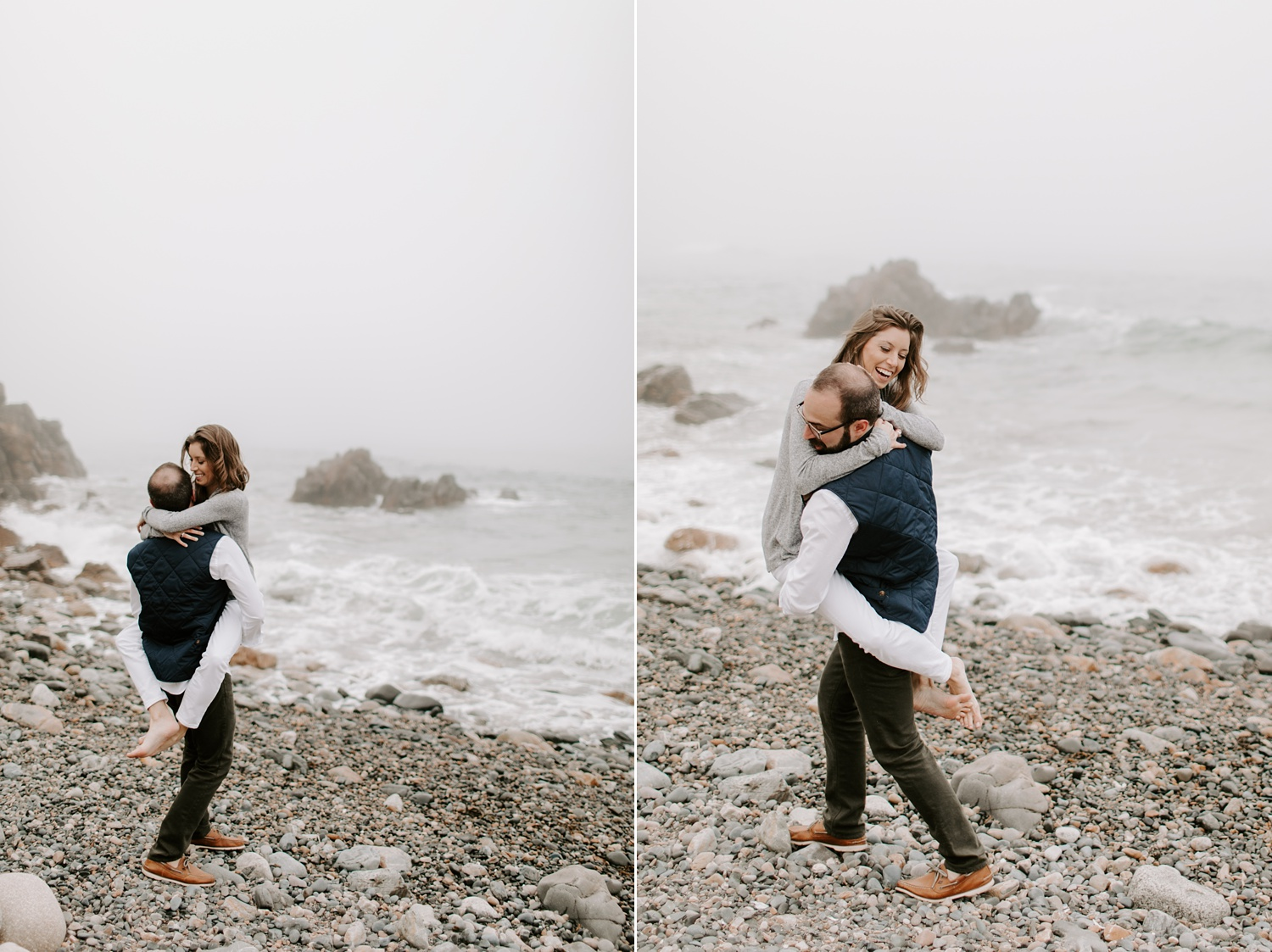 Ogunquit Maine Engagement photographer Beach Location