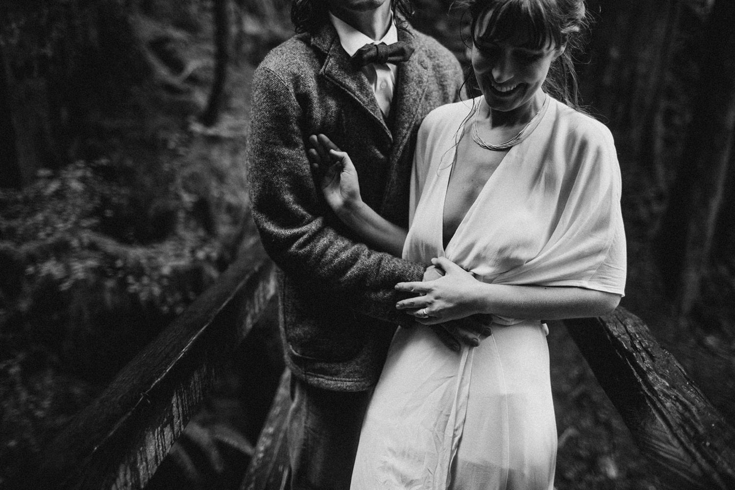 Olympic National Park Elopement Black and White