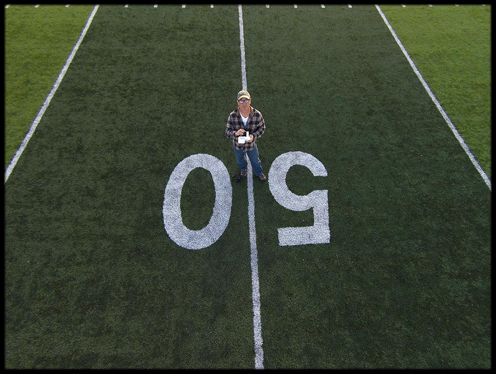 Powell High School 50-yard-line.