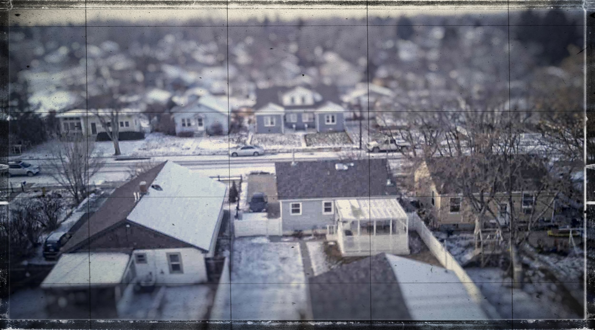 My modest neighborhood via JJRC H12 and its low-grade 5MP camera (edited in On 1 Photo 10 software).