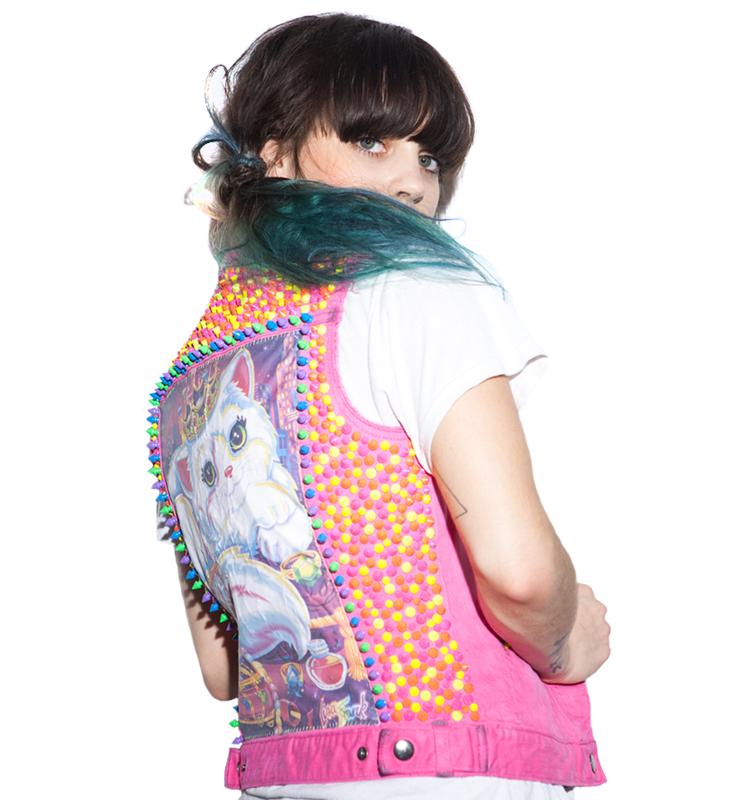 mystic-mayhem-Lisa-Frank-Cat-Hot-Pink-neon-stud-vest-back.png