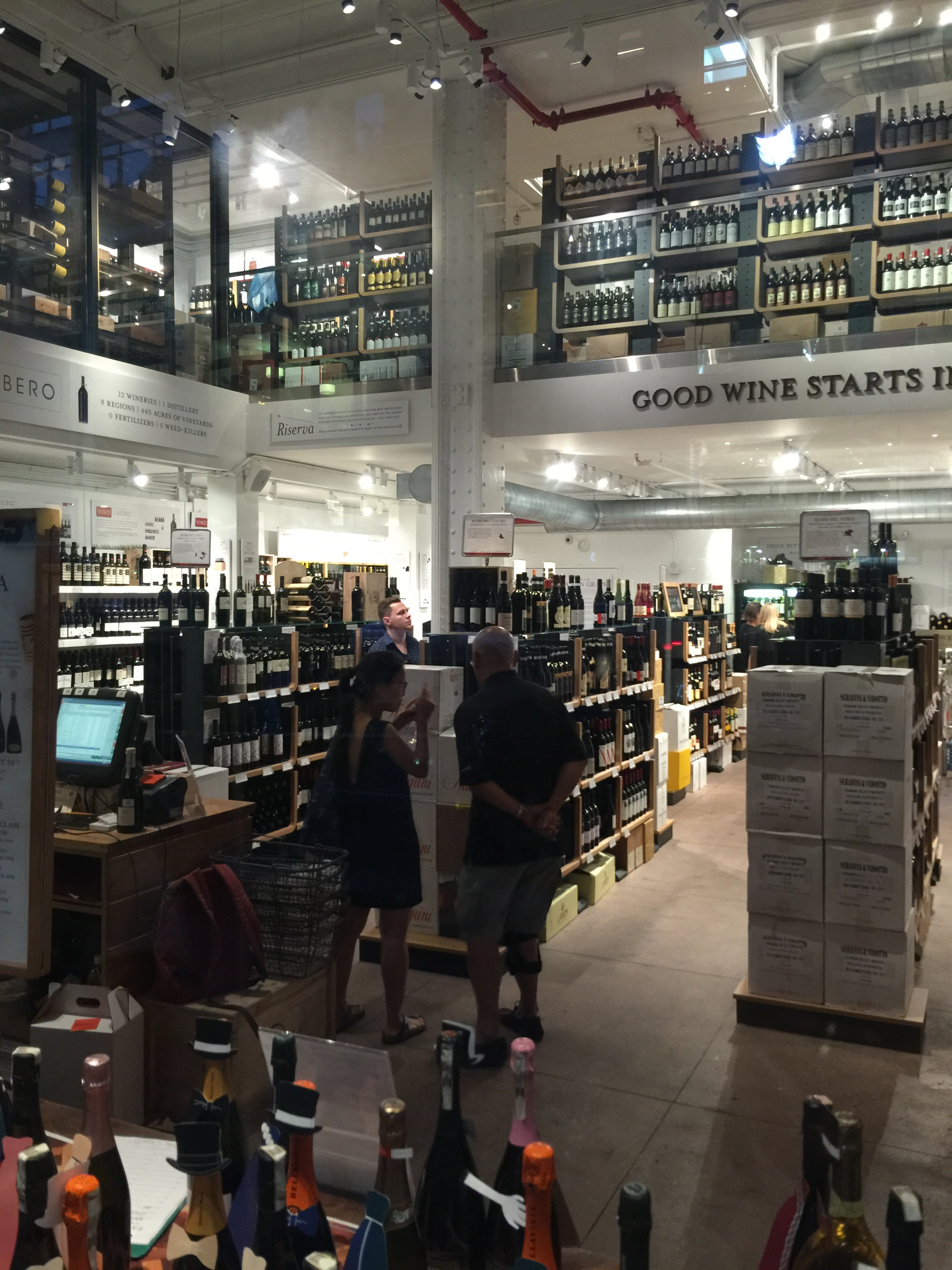 Wine store at Eataly.