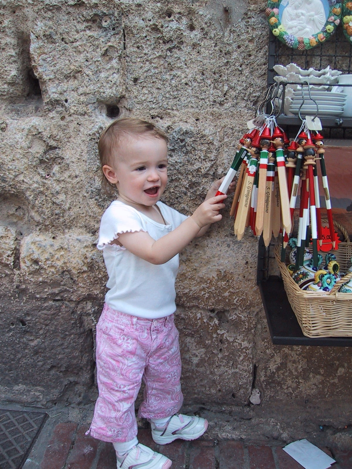 Bella at 18 months in San Gimignano.