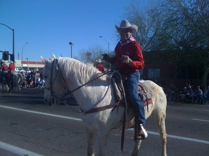 Riding in the Parada del Sol