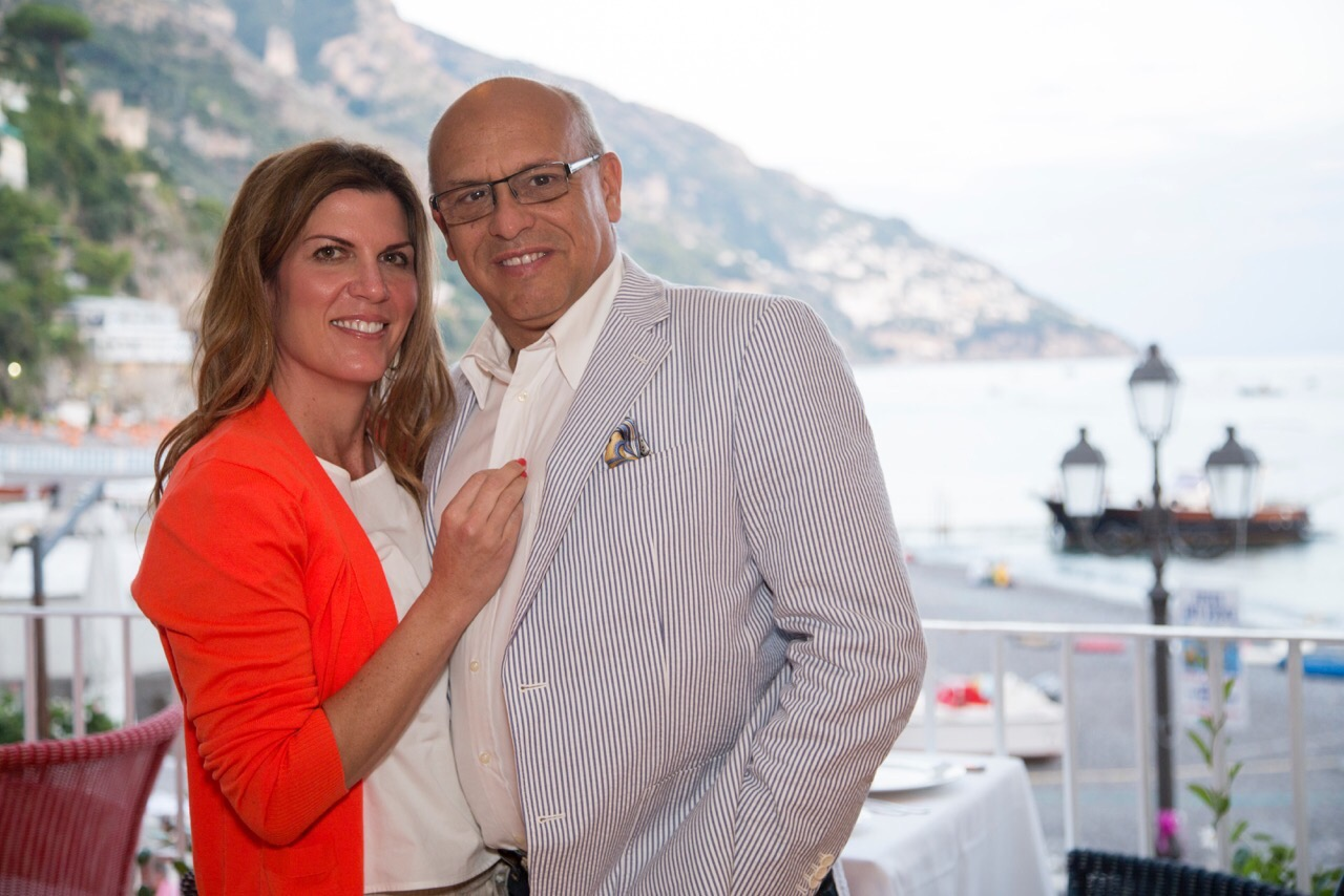 Isabel and Mark in Positano, Italy