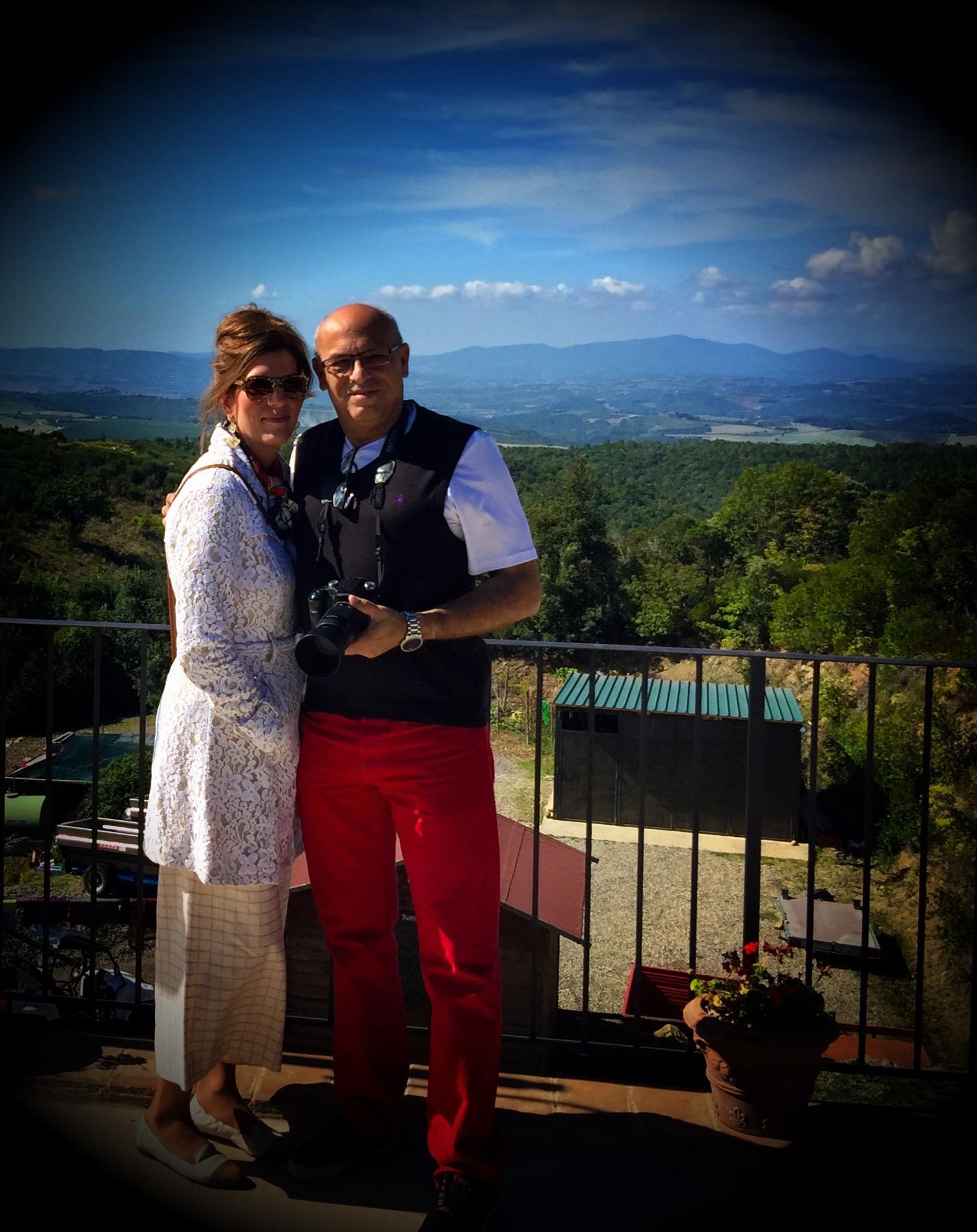 Isabel and Mark at the Poggio Rubino Winery - Montalcino, Tuscany Sept 2015