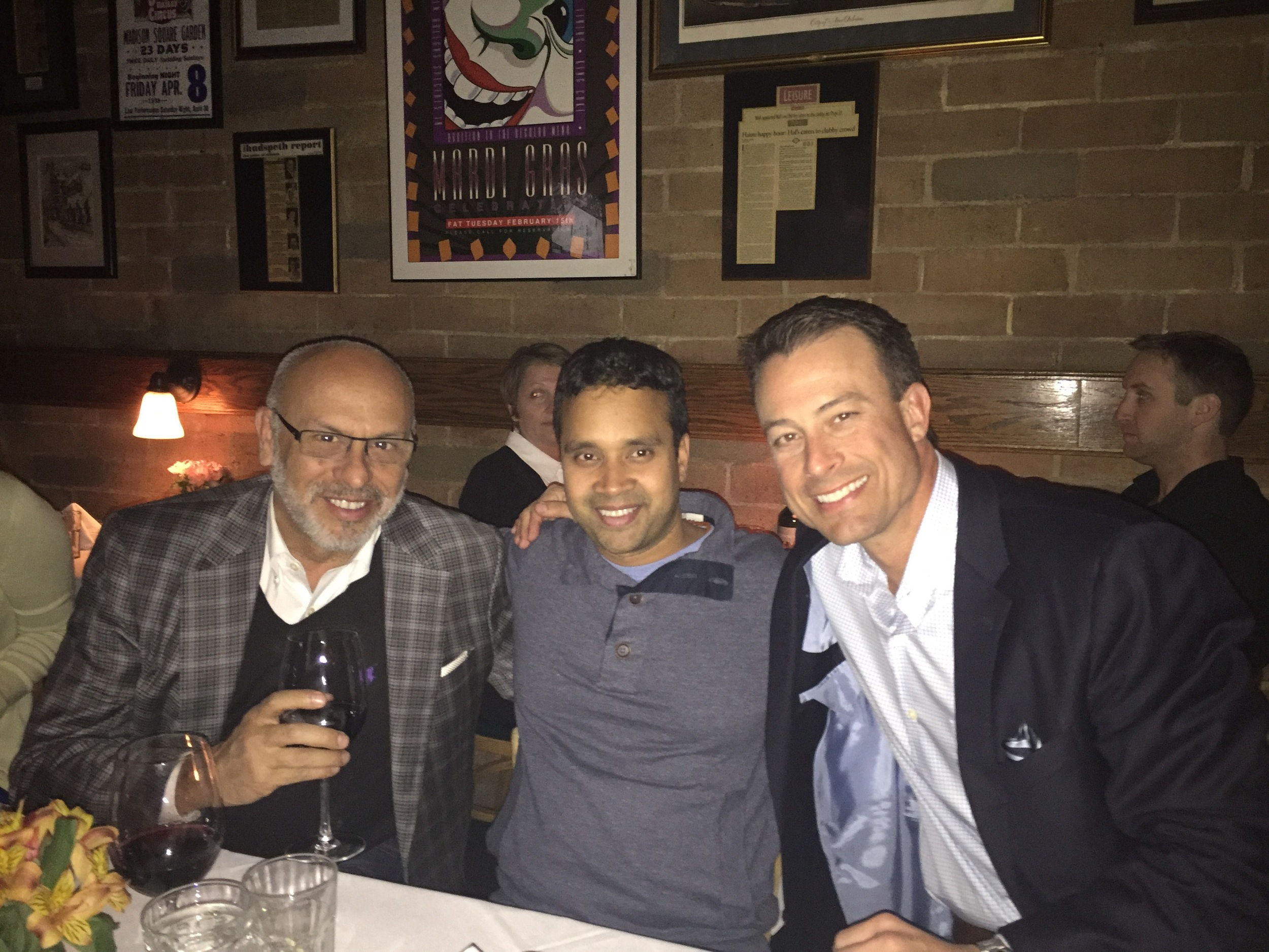 MC with Satya Tiwari of Surya and Jason Harris of The Design Network at Hal's Steakhouse