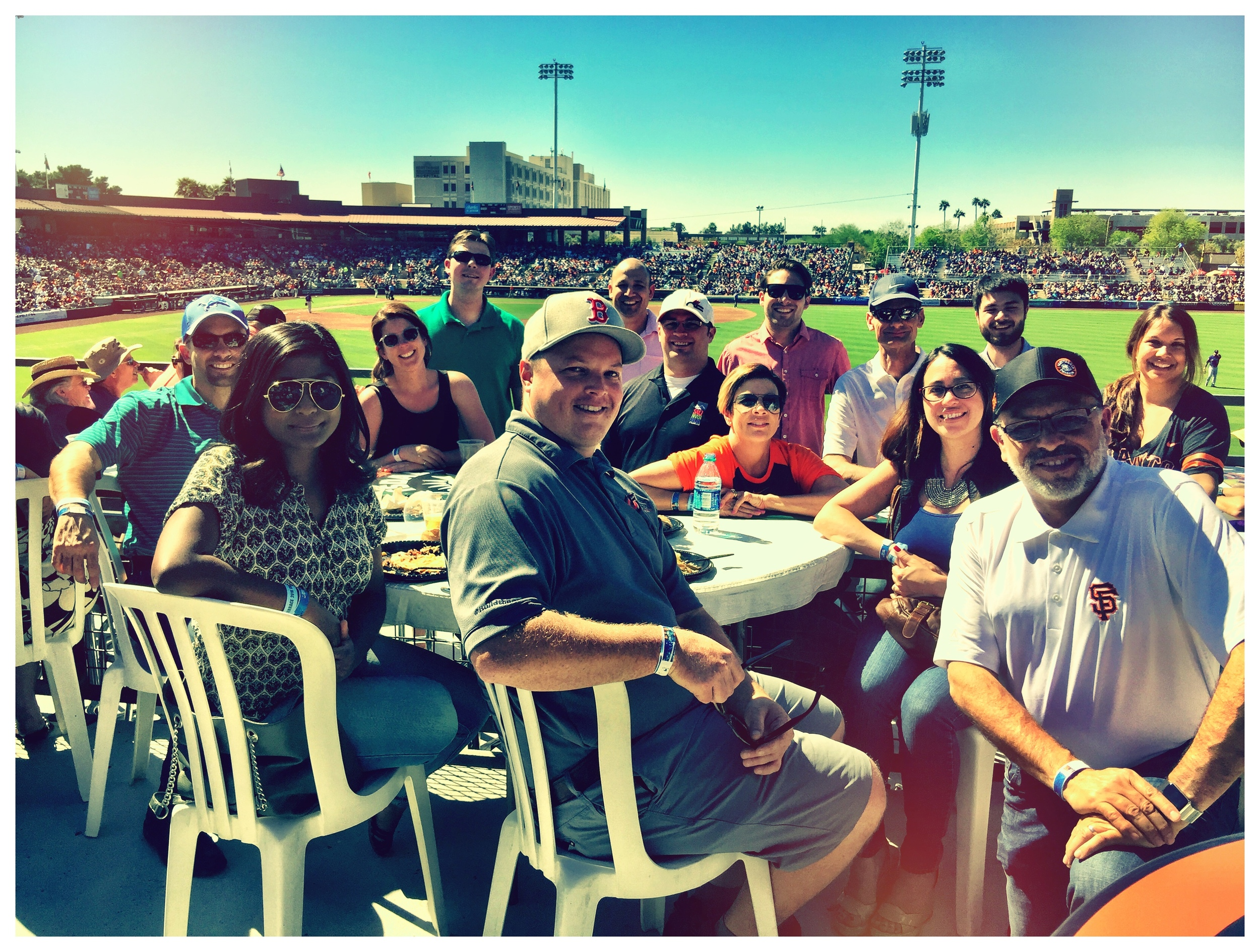 The Candelaria Design crew out at the Ballpark - Scottsdale Charro Lodge