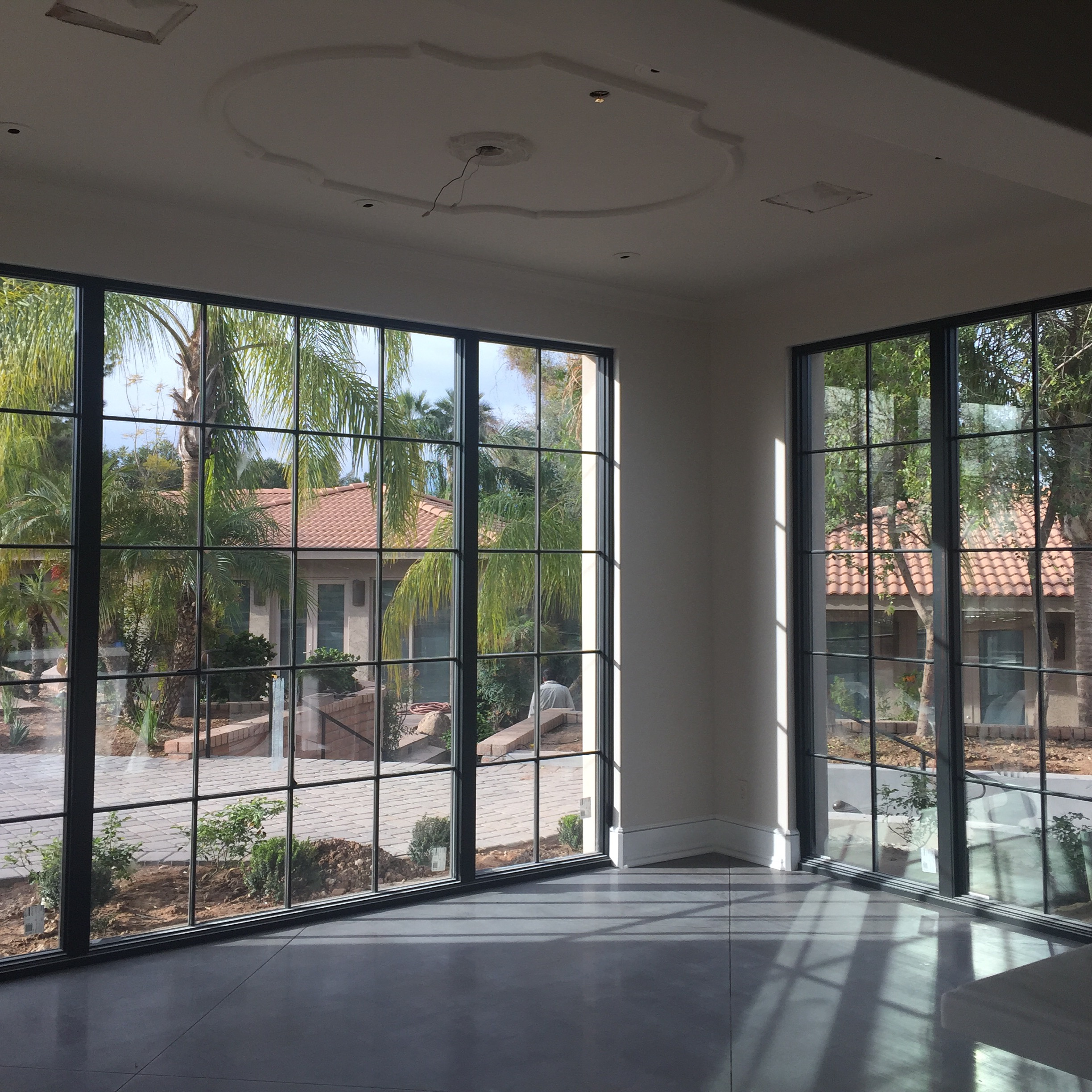 Breakfast Room nearing completion with this Candelaria Design ~ Earth and Images French Transitional home on the Paradise Valley Country Club built by Desert Star Construction.